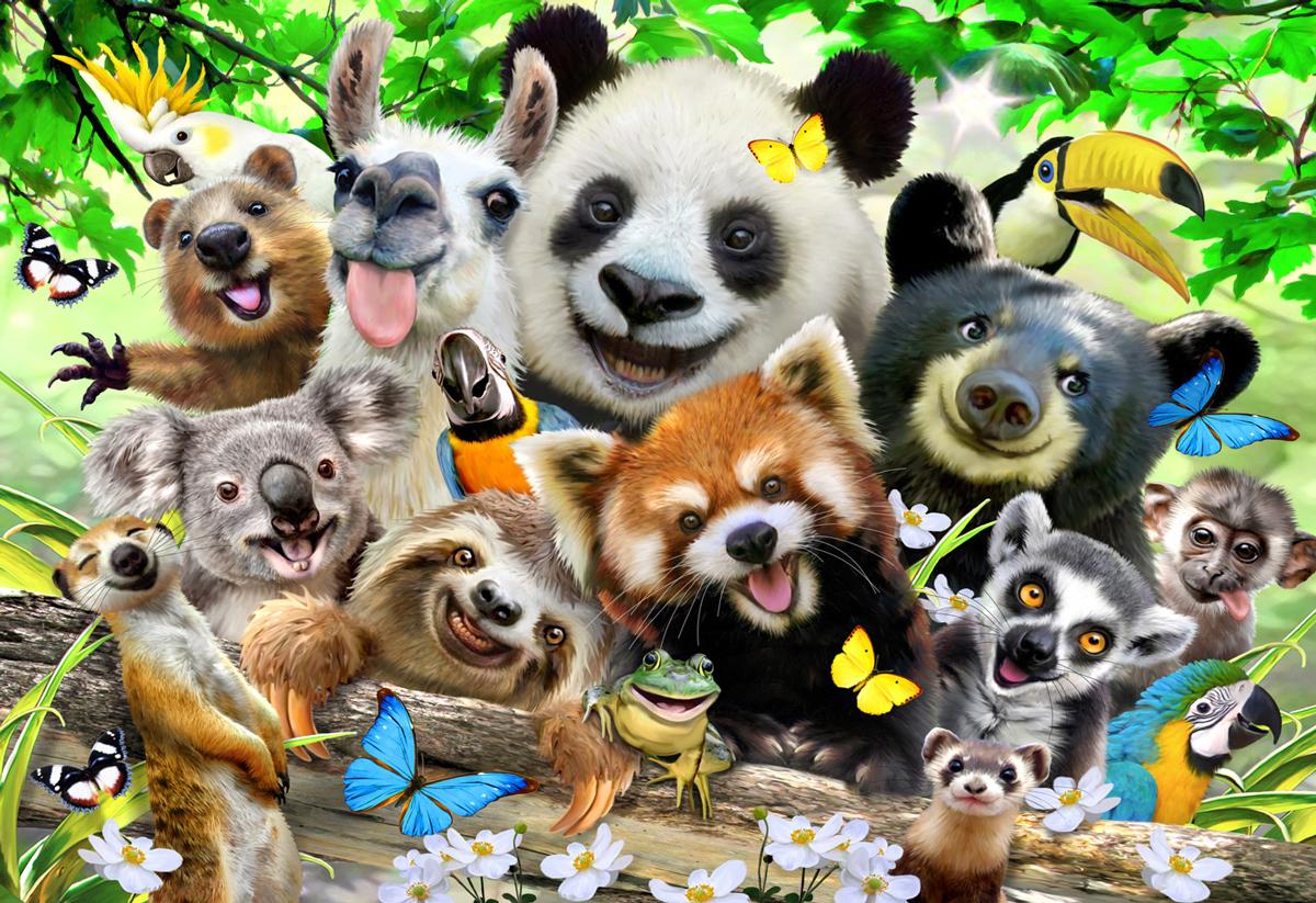 Bear Paradise L Animals Wooden Jigsaw Puzzle