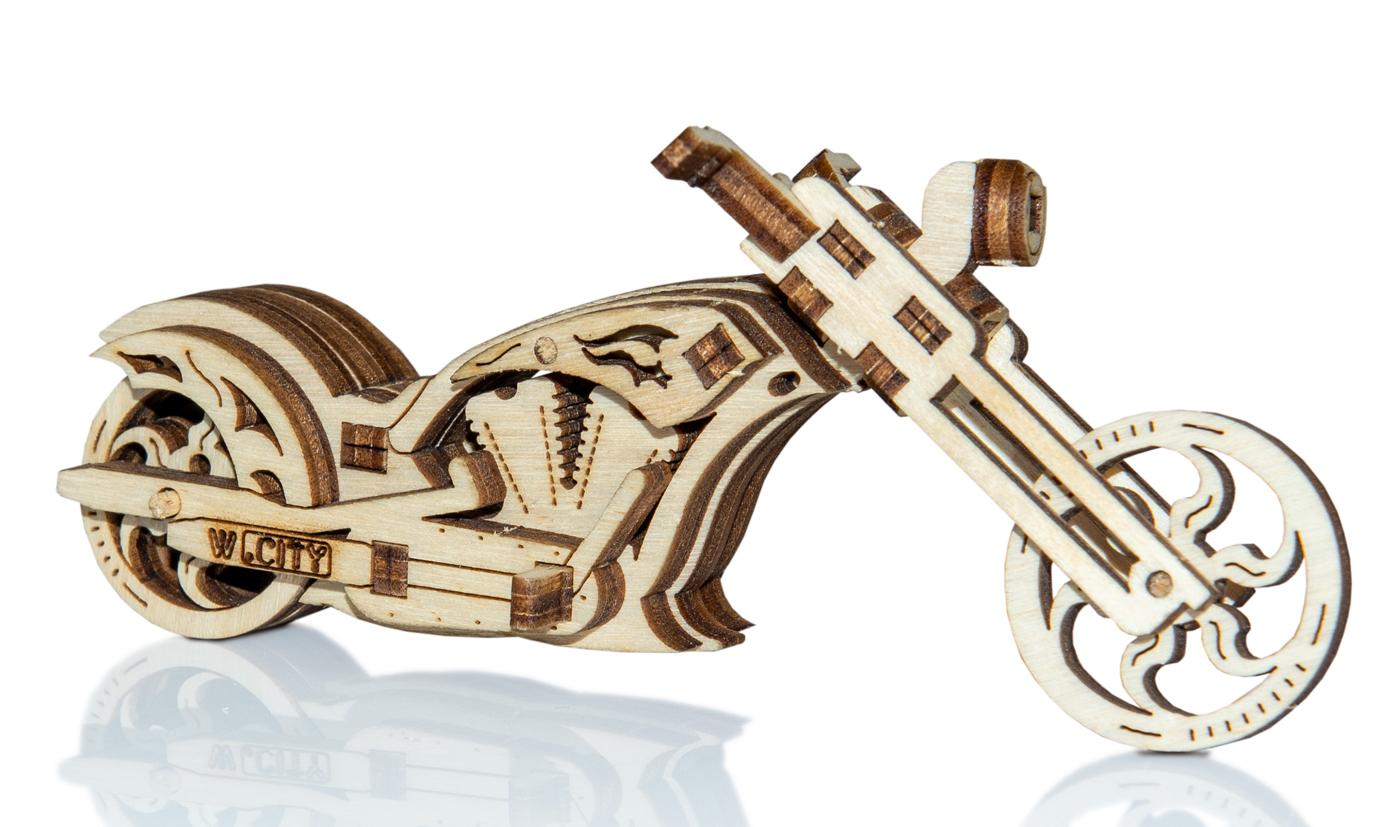 Chopper Widget Vehicles Wooden Jigsaw Puzzle