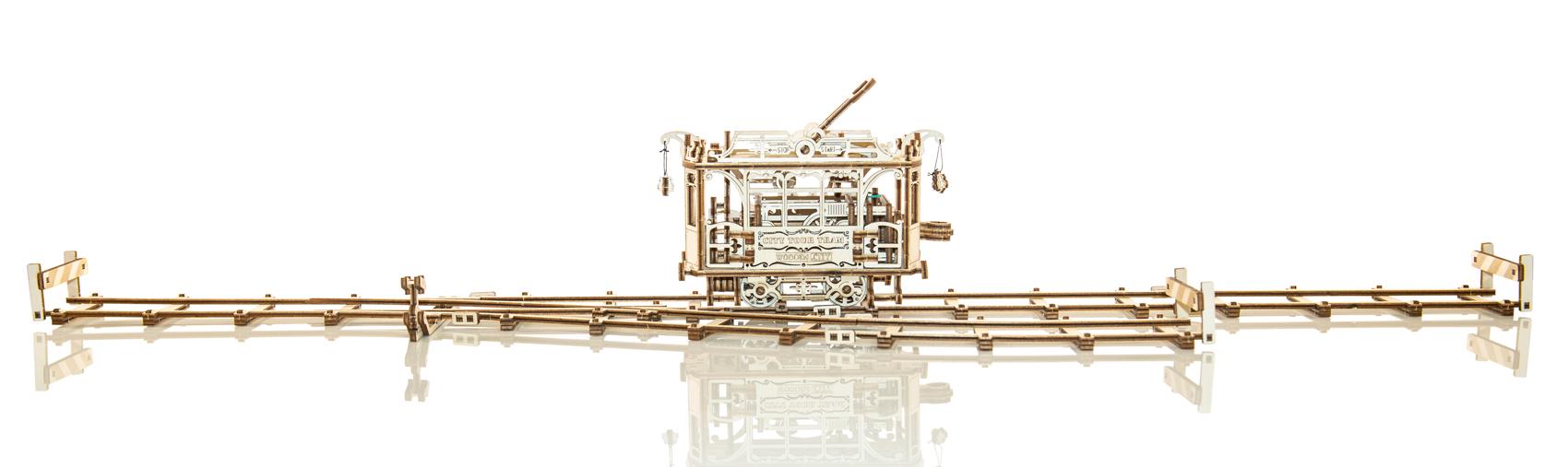 City Tram + Rails Trains Wooden Jigsaw Puzzle