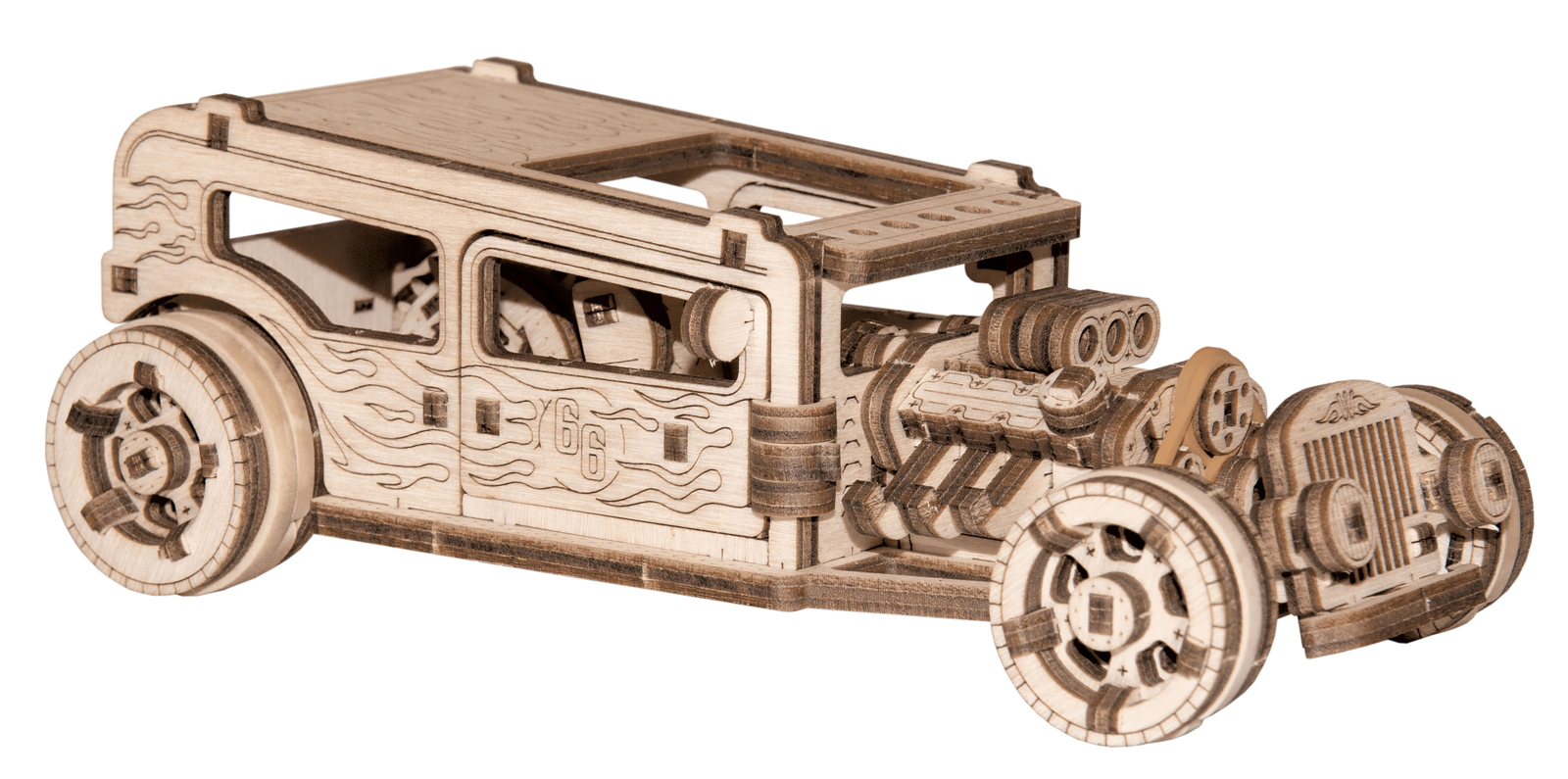 Hot Rod Wooden Jigsaw Puzzle
