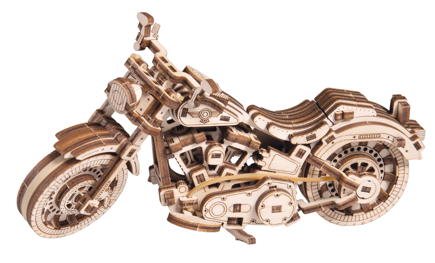 Cruiser V-Twin Vehicles Wooden Jigsaw Puzzle