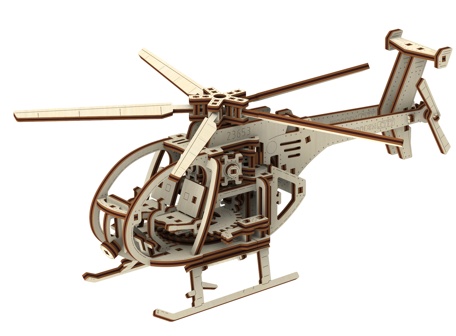 Helicopter Wooden Jigsaw Puzzle