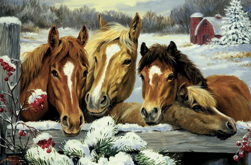 Friendly Neighbors Horses Jigsaw Puzzle