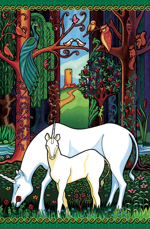 Unicorn Forest Fantasy Jigsaw Puzzle