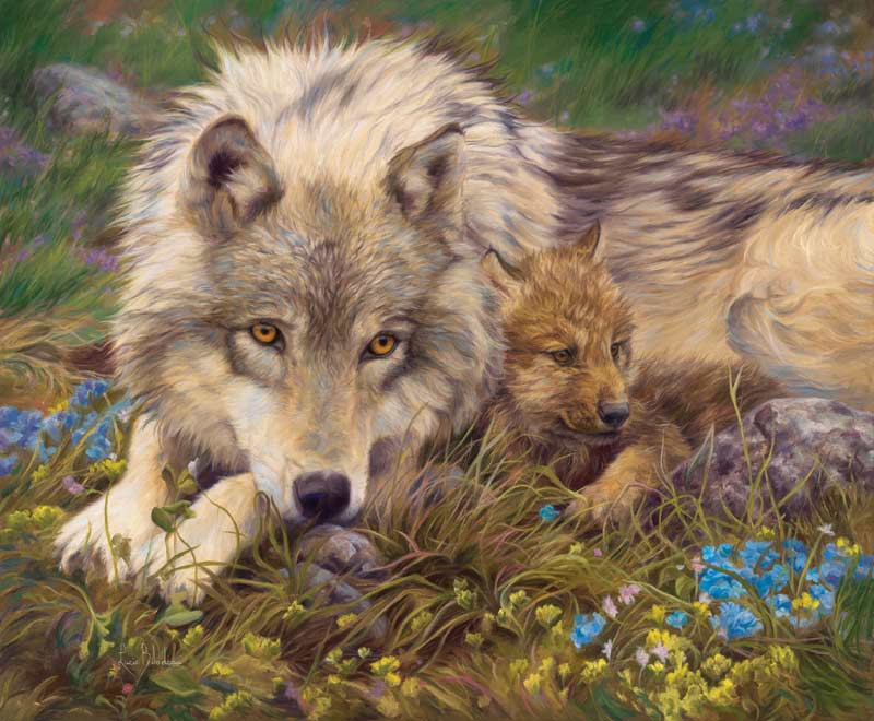 In a Safe Place Wolves Jigsaw Puzzle