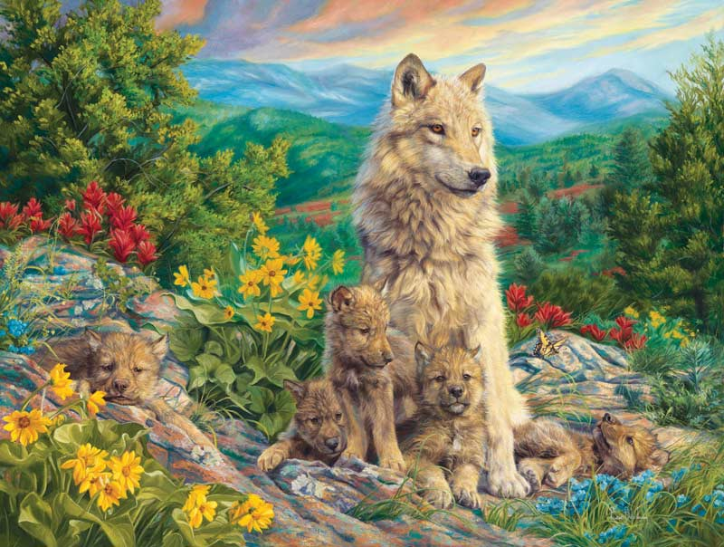 Family Time Wolves Jigsaw Puzzle