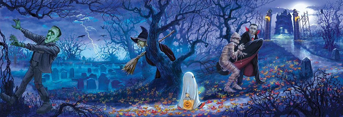 Halloween Scene - Scratch and Dent Halloween Jigsaw Puzzle