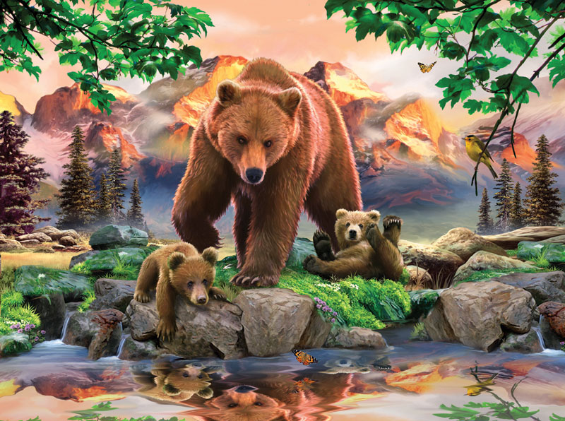 Mama Grizzly Jigsaw Puzzle