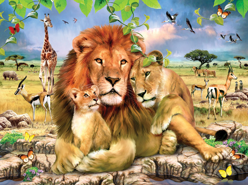 Lion's Pride Africa Jigsaw Puzzle