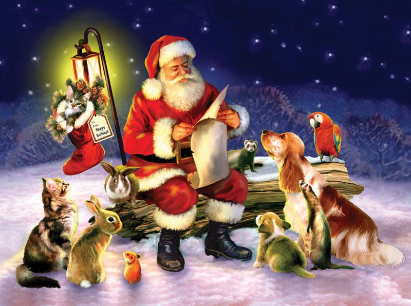 Santa's List Christmas Jigsaw Puzzle