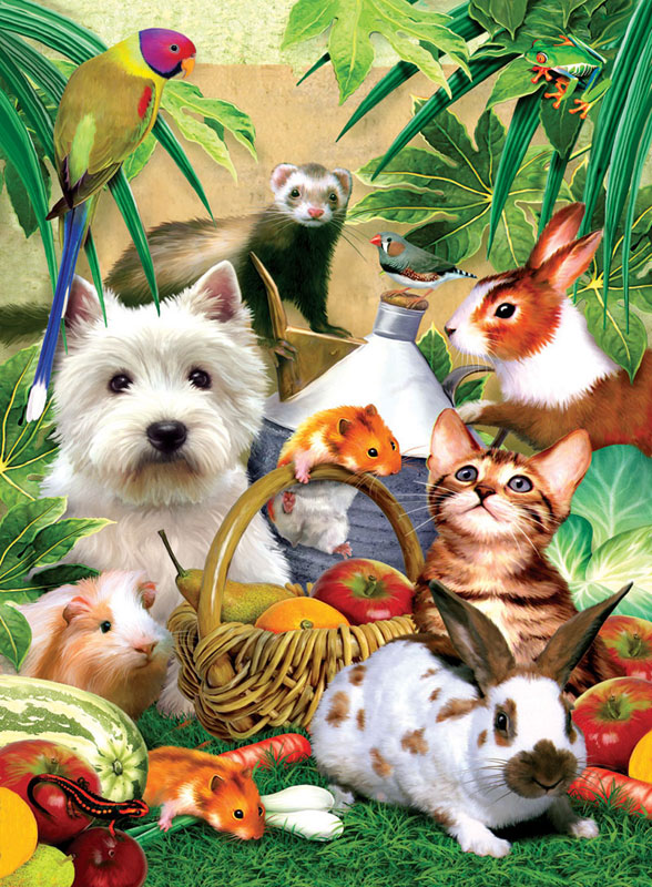 Pets Picnic Other Animals Jigsaw Puzzle