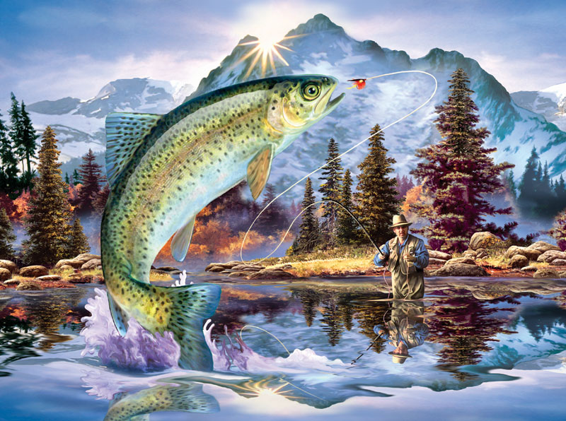 Early Strike Fish Jigsaw Puzzle