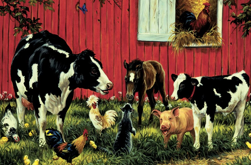 Animal Farm Chickens & Roosters Children's Puzzles