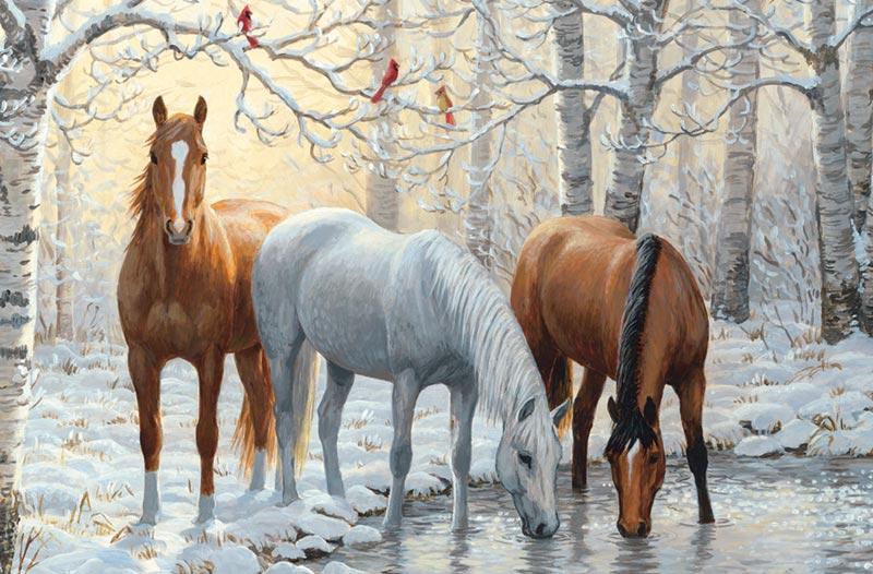 Horse Trio Horses Children's Puzzles
