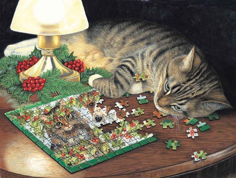Piece-ful Slumber - Scratch and Dent Cats Jigsaw Puzzle