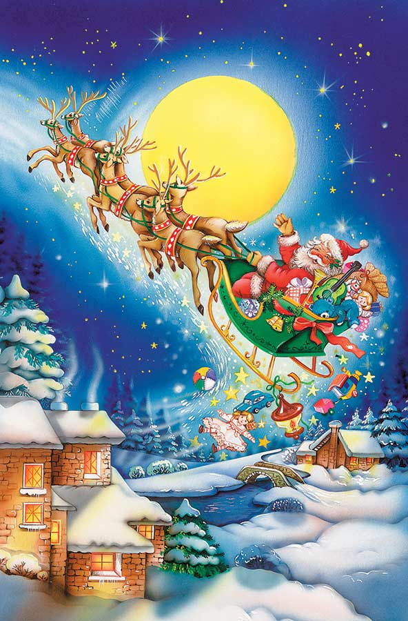 Merry Christmas to All Christmas Jigsaw Puzzle