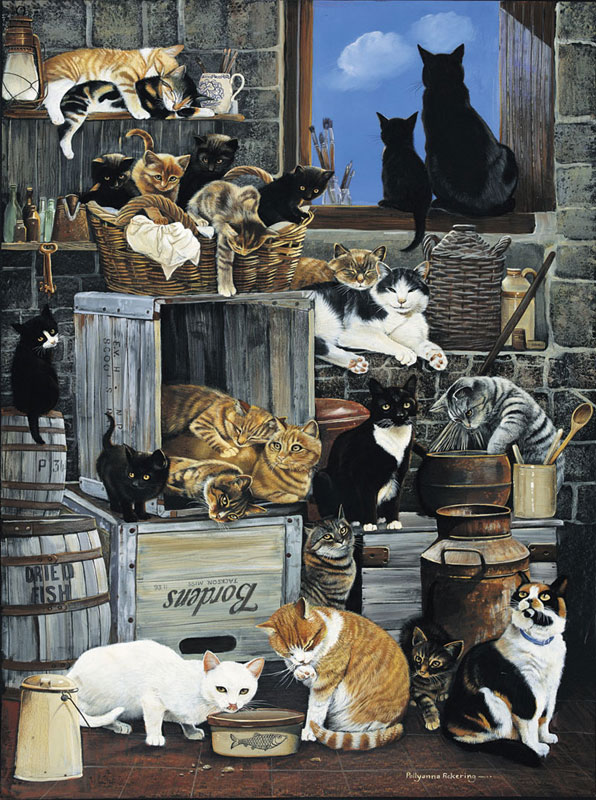 Alley Cats Cats Jigsaw Puzzle