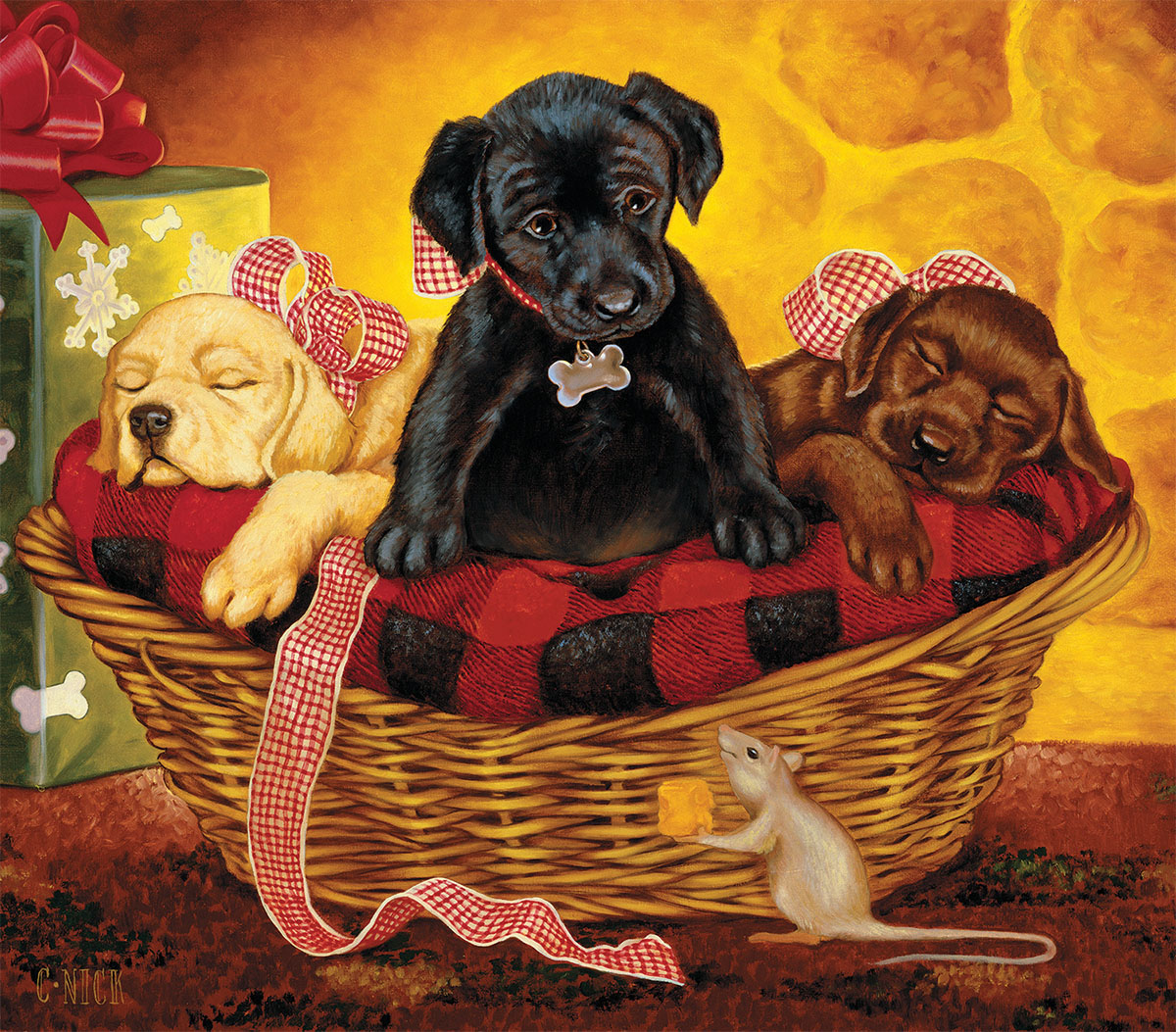 Peaceful Offering Dogs Jigsaw Puzzle