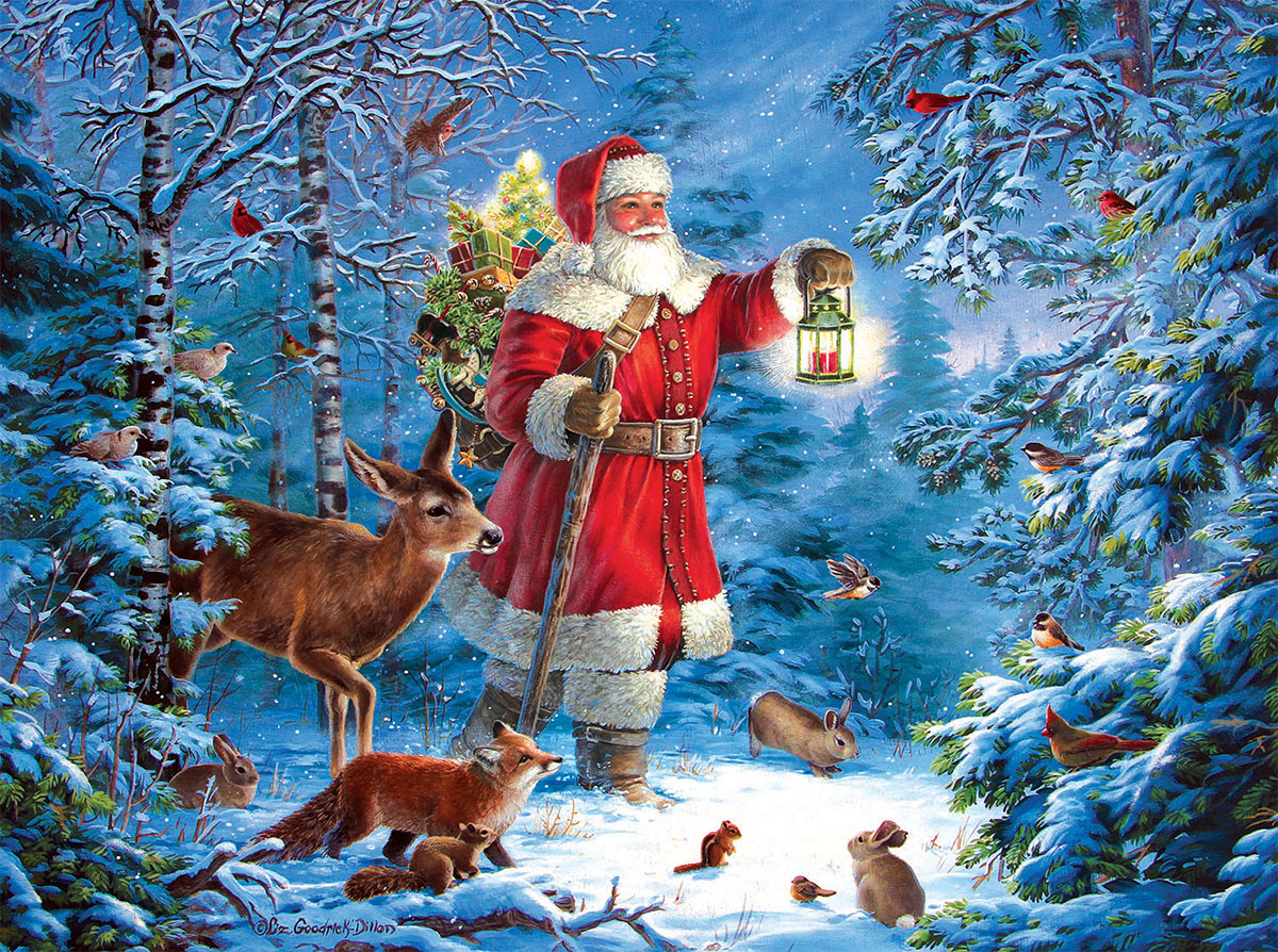Wilderness Santa Winter Jigsaw Puzzle