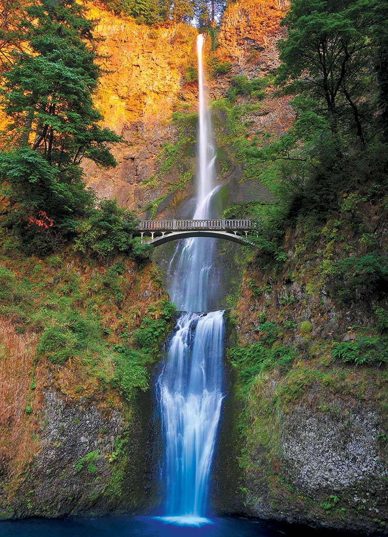 Multnomah Falls, Columbia River Gorge, OR Waterfalls Jigsaw Puzzle