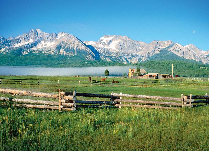 Sawtooth Mountains, ID Mountains Jigsaw Puzzle