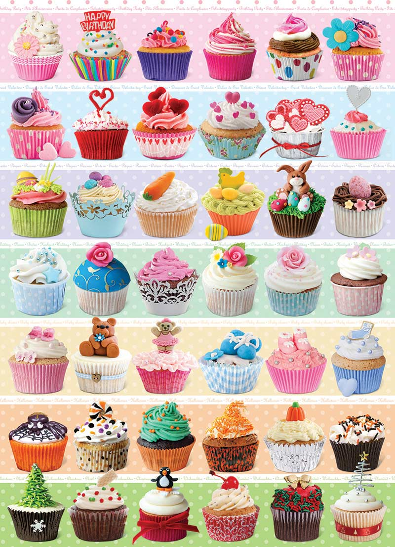 Cupcake Celebration Food and Drink Jigsaw Puzzle