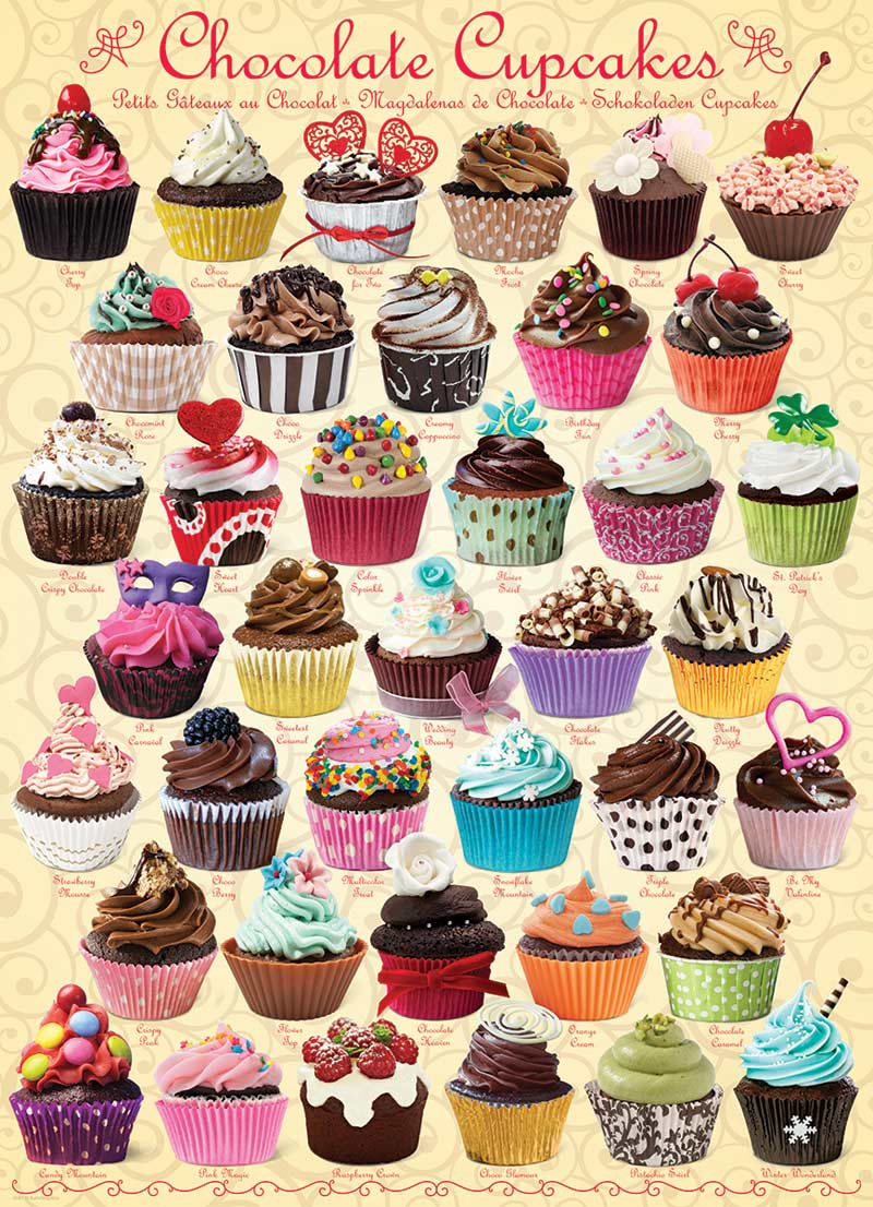 Chocolate Cupcakes Food and Drink Jigsaw Puzzle