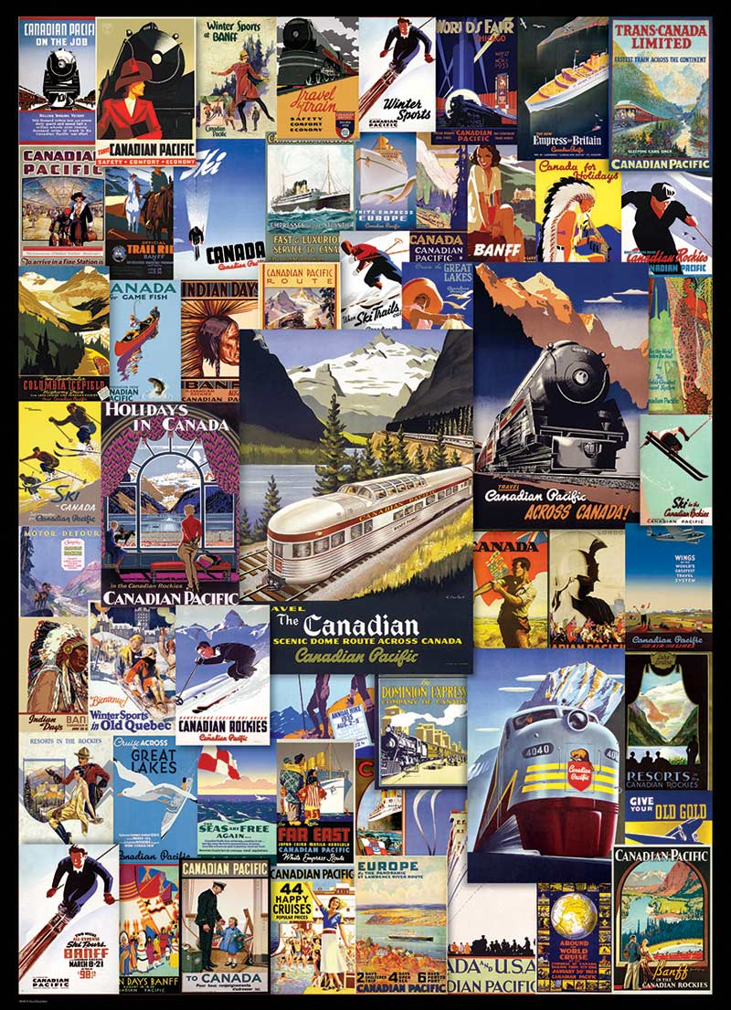 Canadian Pacific - Railroad Adventures Travel Jigsaw Puzzle