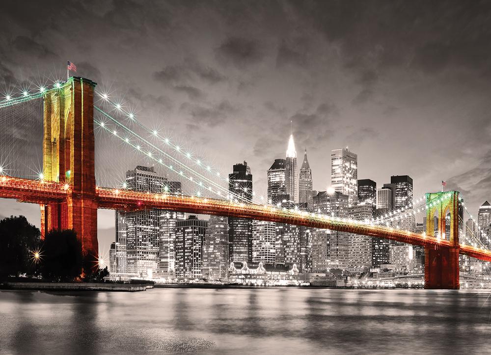 New York City Brooklyn Bridge Skyline / Cityscape