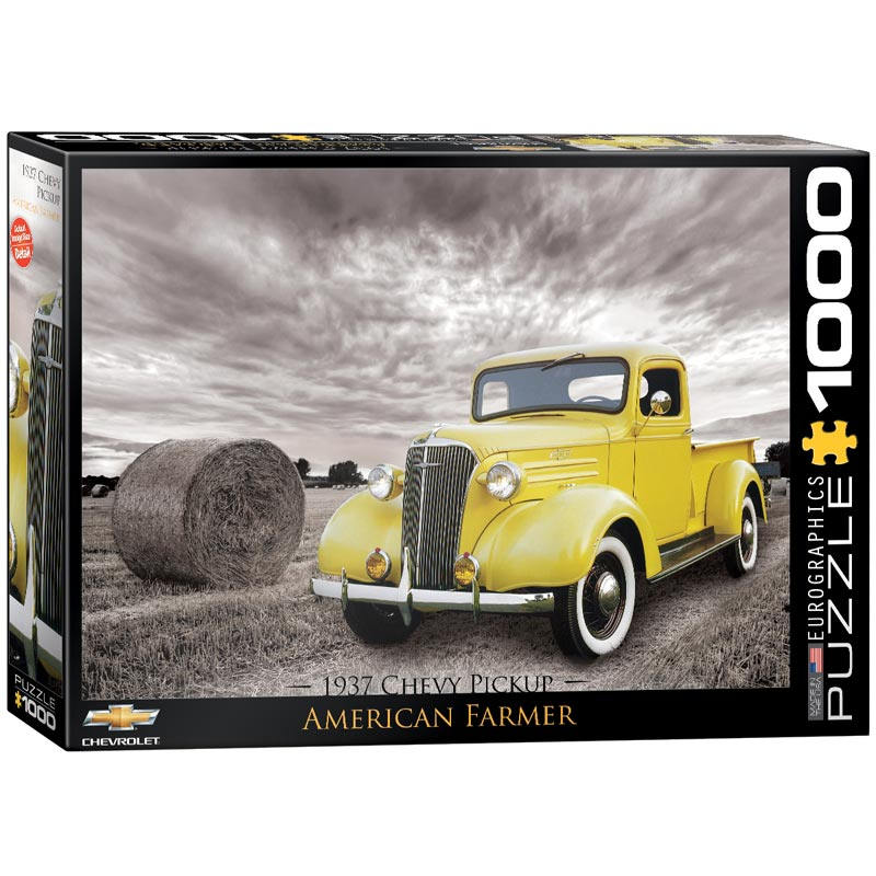1937 Chevy Pickup Truck - American Farmer Cars Jigsaw Puzzle