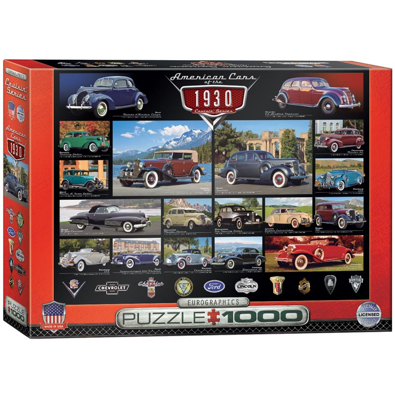 American Cars of the 1930's Cars Jigsaw Puzzle
