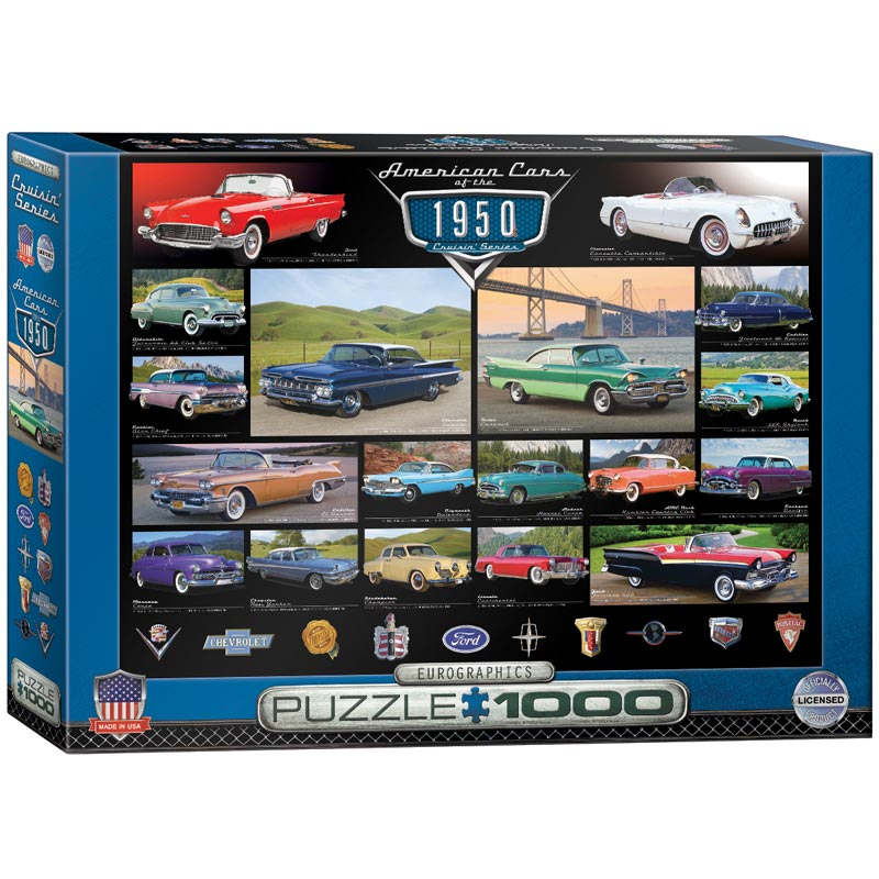 American Cars of the 1950's Cars Jigsaw Puzzle