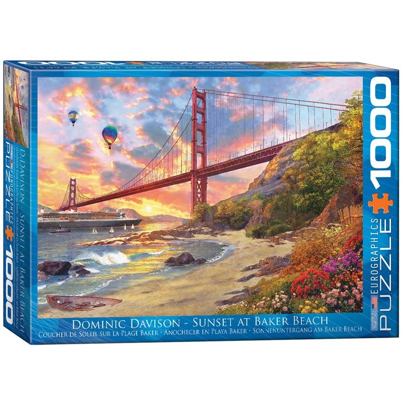 Sunset at Baker Beach Summer Jigsaw Puzzle