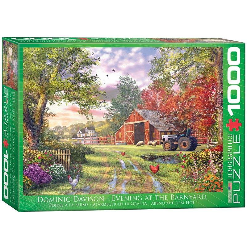 Evening at the Barnyard Farm Jigsaw Puzzle
