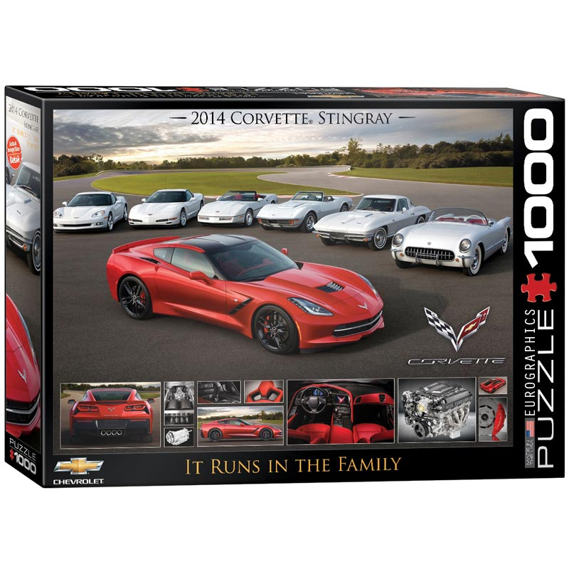 It Runs in the Family (2014 Corvette Stingray) - Scratch and Dent Cars Jigsaw Puzzle