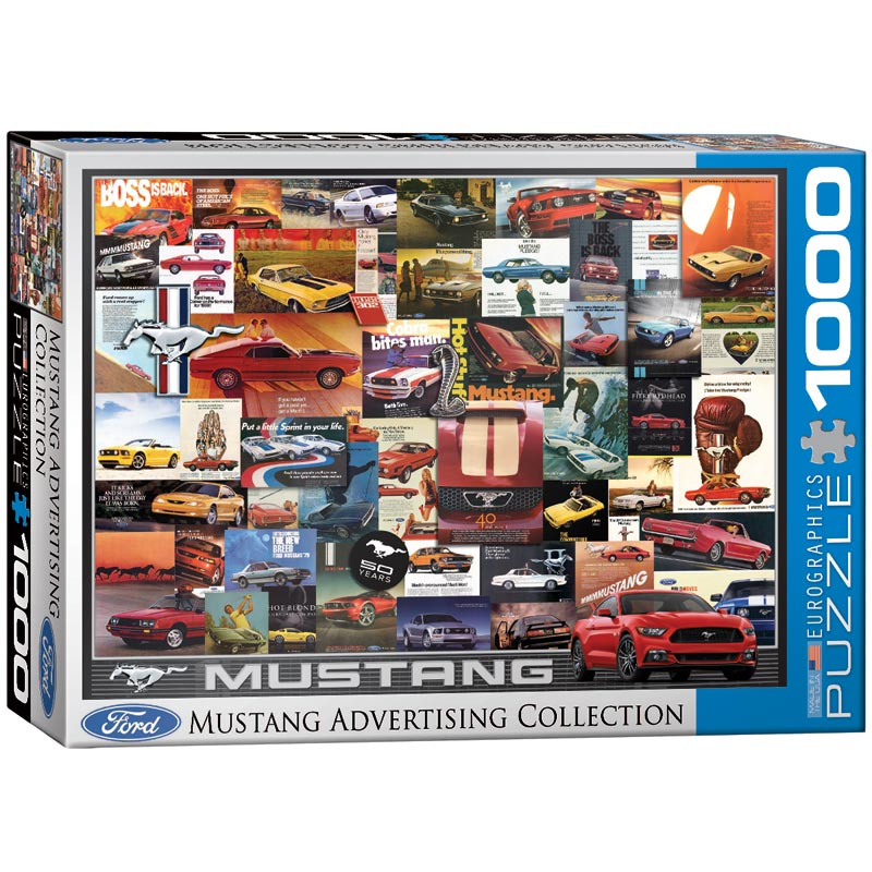 Ford Mustang (Vintage Ads) Cars Jigsaw Puzzle