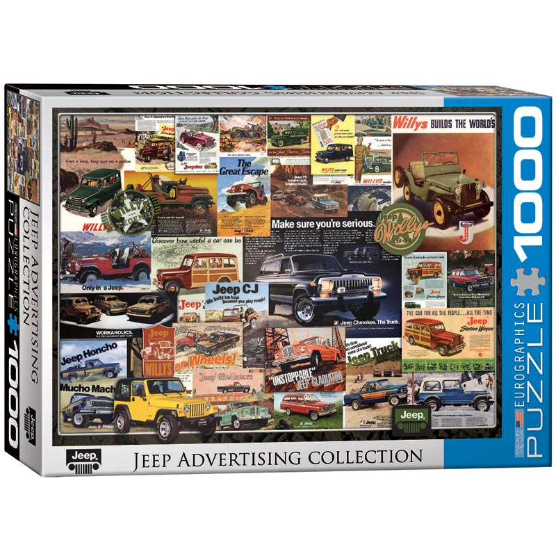 Jeep Advertising Collection Cars Jigsaw Puzzle