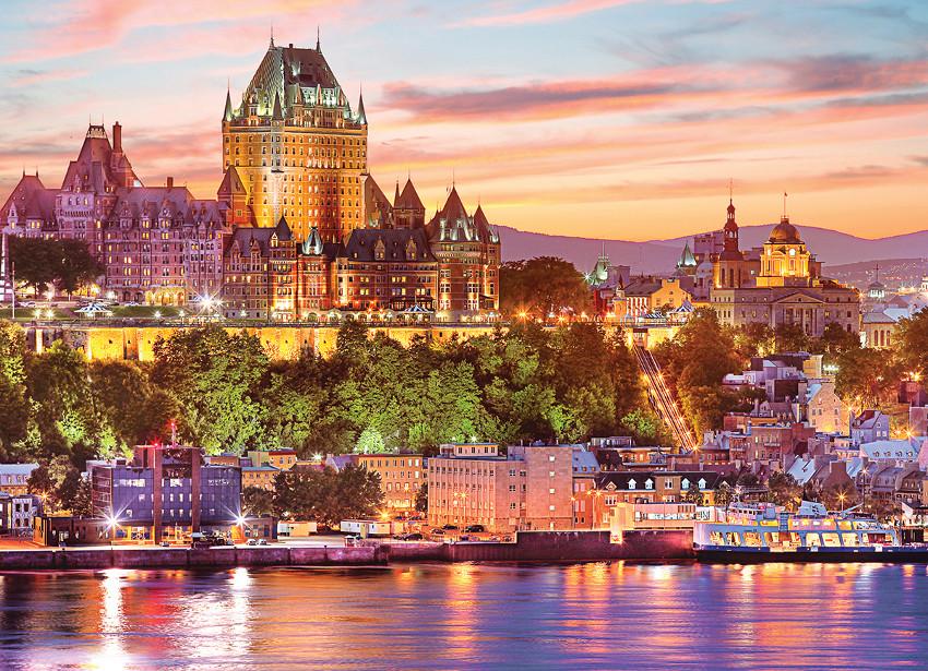 Le Vieux - Quebec Skyline / Cityscape Jigsaw Puzzle