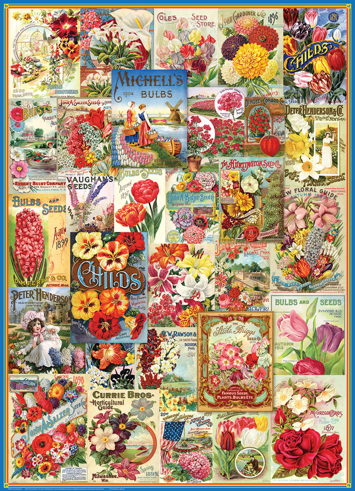 Flowers Seed Catalogue Collection Flowers Jigsaw Puzzle