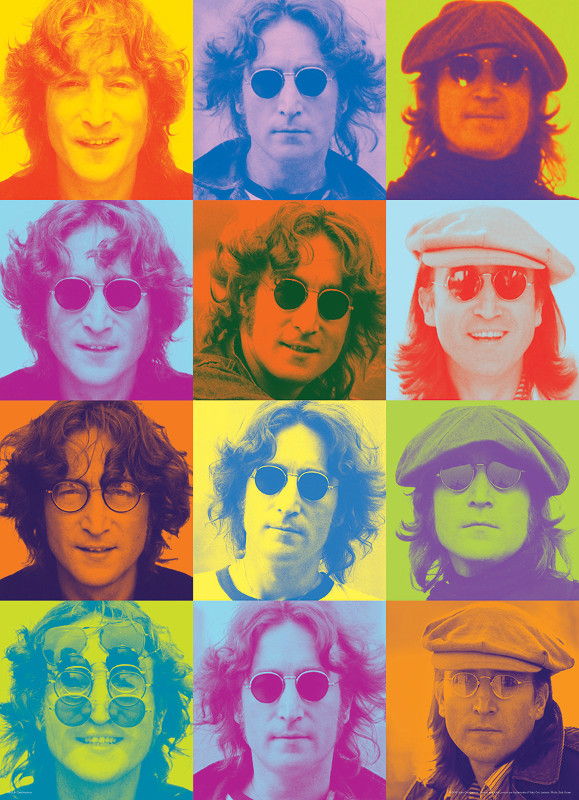 John Lennon Color Portraits Famous People
