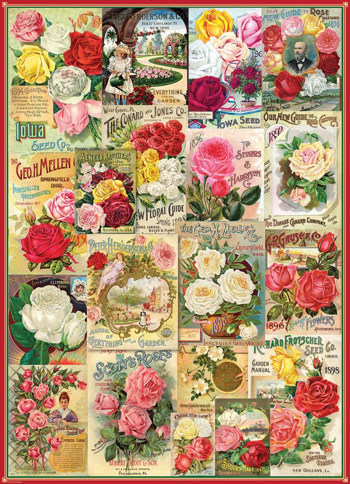 Roses Seed Catalogue Collection Flowers Jigsaw Puzzle