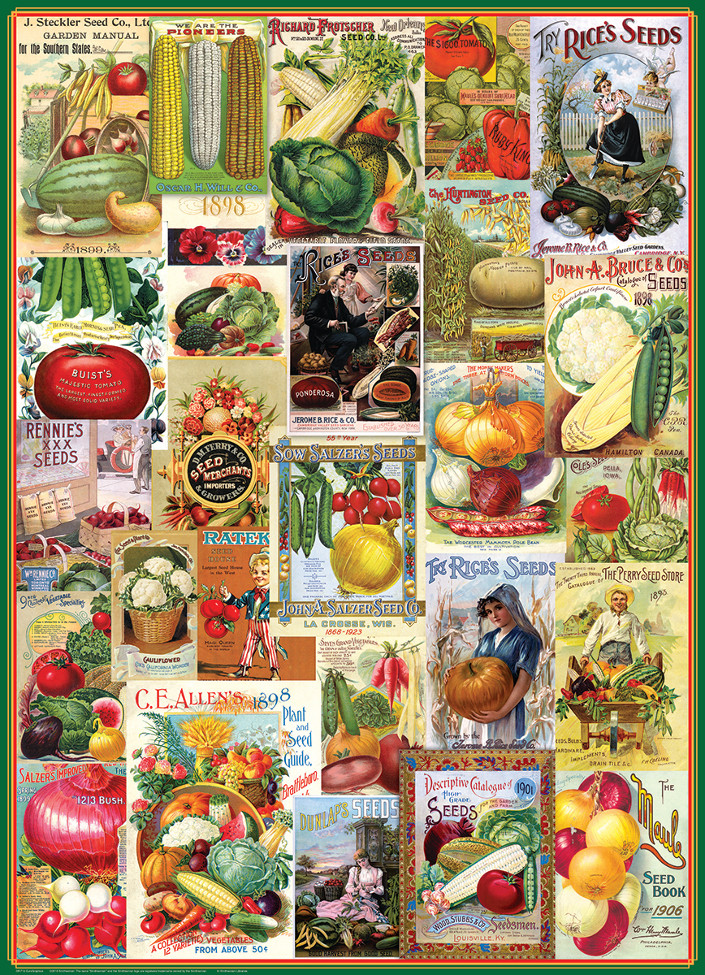 Vegetables Seed Catalogue Collection Food and Drink Jigsaw Puzzle