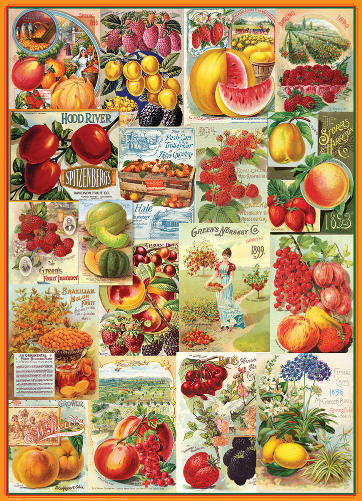 Fruits - Seed Catalogue Collection Food and Drink Jigsaw Puzzle
