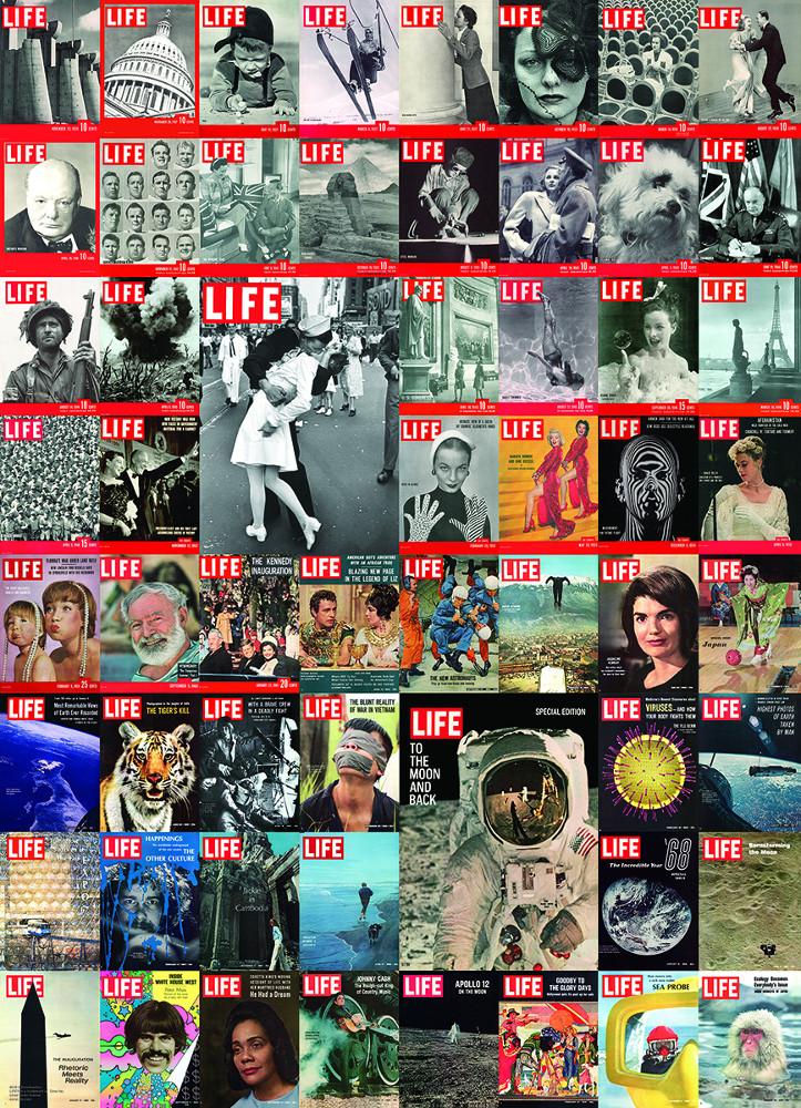 Vintage Cover Collage -  LIFE Magazine Nostalgic / Retro Jigsaw Puzzle