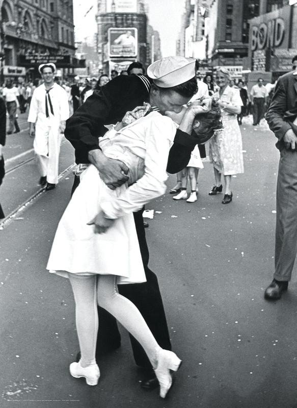 V-J Kiss in Times Square -  LIFE Magazine Street Scene