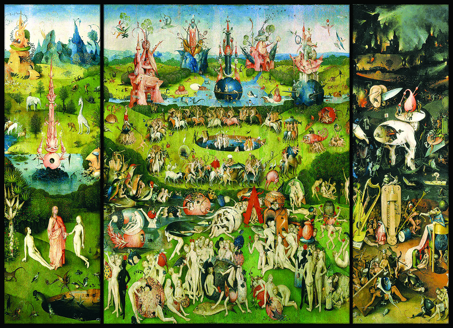 The Garden Of Earthly Delights Triptych Fine Art Jigsaw Puzzle