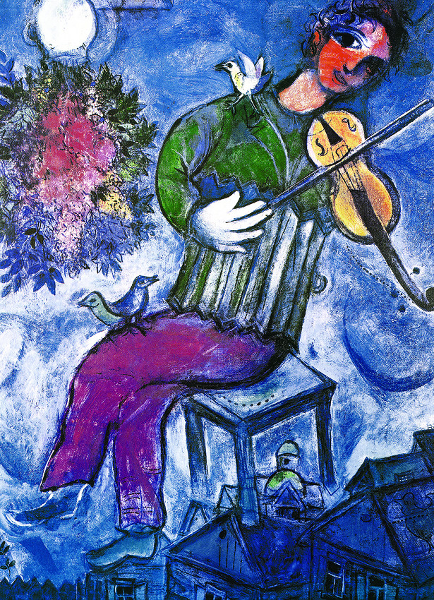 The Blue Violinist Birds Jigsaw Puzzle