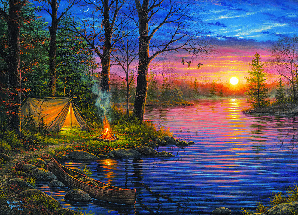 Evening Mist Father's Day Jigsaw Puzzle