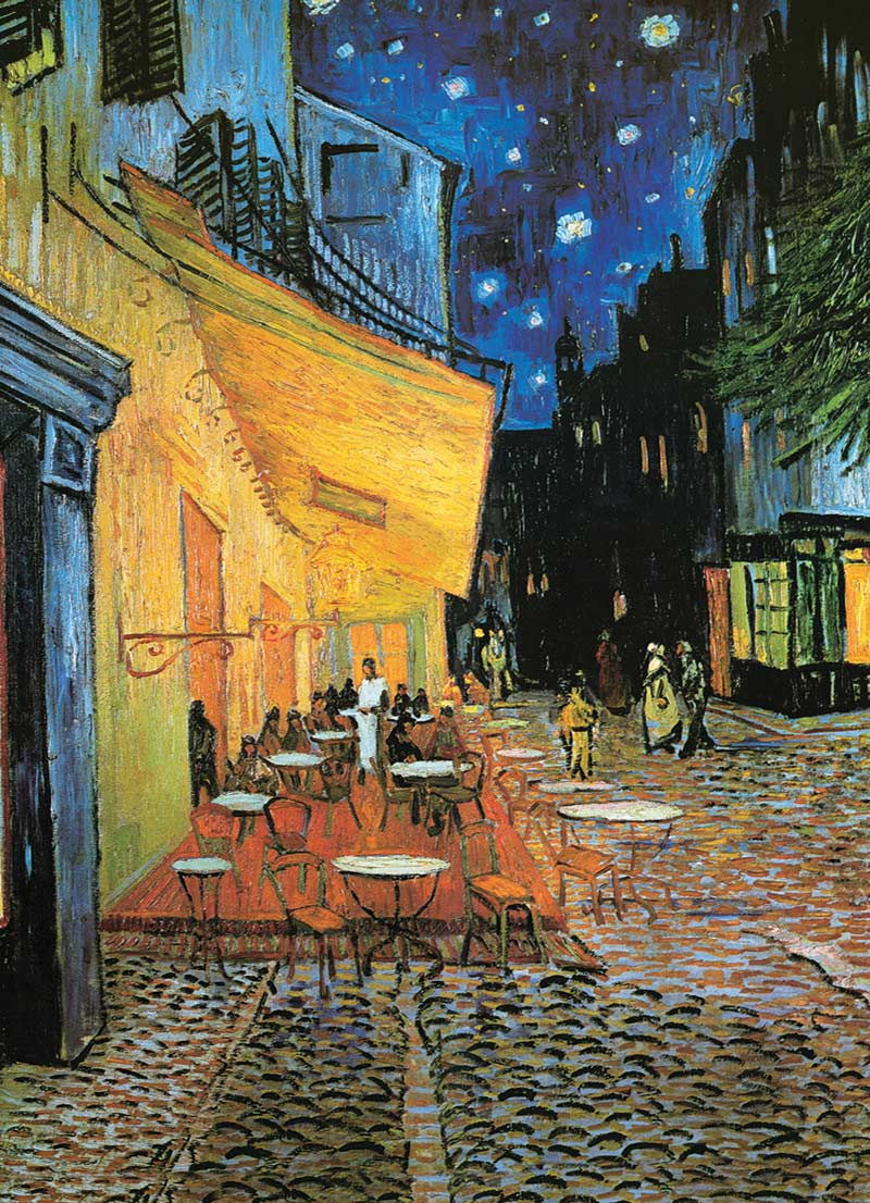 Cafe at Night - Scratch and Dent Fine Art Jigsaw Puzzle
