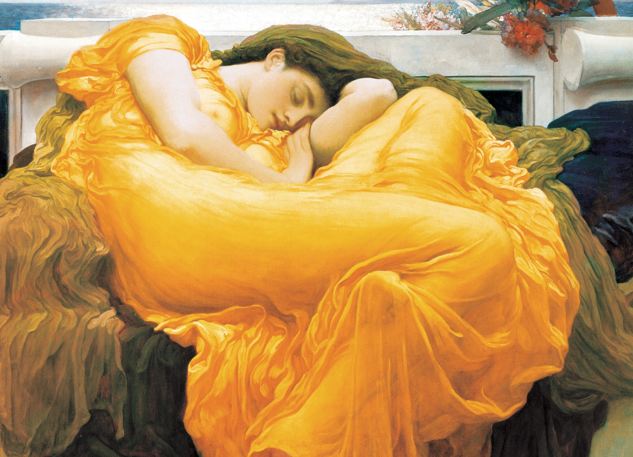 Flaming June Fine Art Jigsaw Puzzle